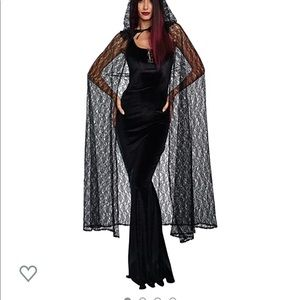 Gothic cape with hoodie